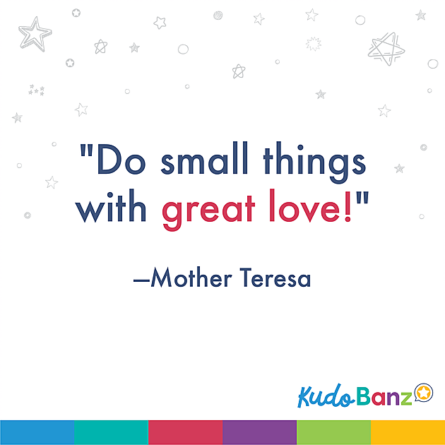 photo regarding Mother Teresa Do It Anyway Free Printable called Tremendous Easy Functions of Kindness For Young children Kudo Banz